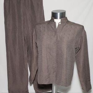 Eileen Fisher Pants Suite Combo Silk Blend